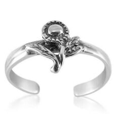 Sunflower Toe Ring Genuine Sterling Silver 925 Adjustable Jewelry Gift 1.3 grams