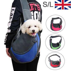 S/L Pet Dog Cat Puppy Carrier Comfort Tote Shoulder Travel Bag Sling Backpack UK