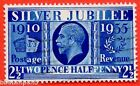 """SG. 456a. NCom14. 2½d Silver Jubilee """" Prussian Blue """".  A fine used example."""