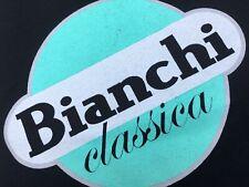 QUALITY Bianchi black / Celeste Green Bicycle Logo Cycling Champion T-Shirt XL