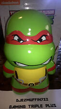 "NEW 9"" TMNT RAPHAEL CERAMIC PIGGY BANK (TEENAGE MUTANT NINJA TURTLES)"