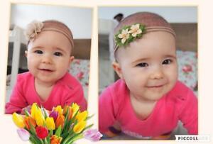 Bandeau Cheveux Serre-tête Turban Fleur Mariage Fête Pour Fille Enfant