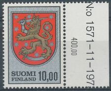 Finland 1974 MNH - 10mk Definitive stamp - Lion Type - Scott 470 - yHa Plate #