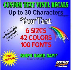 CUSTOM Vinyl Lettering Decal Personalized Sticker Window Jeep Truck Car Sign