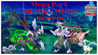 Pokemon Sword & Shield Kyurem Black & White✨Shiny✨BR 6IV Zekrom Reshiram Pack