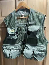 Details about  /LL Bean Mens Fly Fishing Vest Beige Green Outdoor Safari Photography Travel L