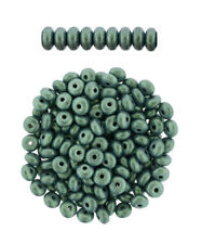 100 Czech Glass Rondelle Heishi Disc Beads 4 MM  Opaque & Transparent Colors