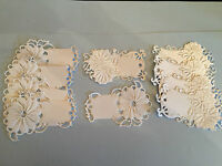 10 TONIC GOLD OR SILVER FOILED ON WHITE CARD DIE CUT & EMBOSSED DAISY TAGS