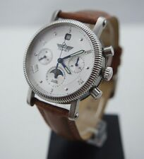 POLJOT Silver Century Mond Phase Chronograph 31679 MADE IN RUSSIA