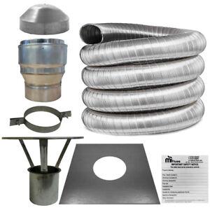 6 inch Flue Liner Kit 316, 150mm For Stoves & Chimney, LifeTime Warranty Kit 1