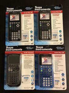 (3) Texas Instruments TI-84 Plus CE Graphing Calculators (1) TI 89 NEW/Unopened