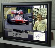 "Jo Siffert F1 Framed Canvas Print Signed ""Great Gift or Souvenir"""