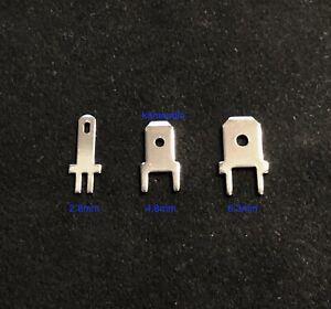Vanguard Rhodium FTL 2.8mm 4.8mm 6.3mm male spade tab terminals PCB mounting