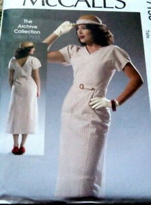 *LOVELY RETRO 1930s DRESS McCALLS ARCHIVE Sewing Pattern 14-16-18-20-22 UNCUT