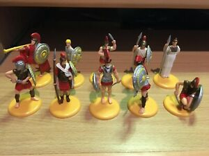 GREEK FOOT SOLDIERS  SET OF 10 FIGURES - TIMPO TOYWAY
