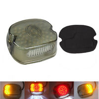 Smoke LED Rear Tail Light Brake For Harley Sportster Road King Dyna Glide FatBoy