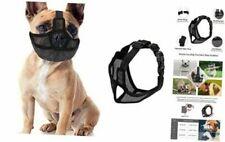 Short Snout Dog Muzzle Adjustable Bulldog Mask Breathable Mesh Medium Black