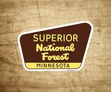 "Superior National Forest Decal Sticker 3.75"" x 2.5"" Minnesota Park Vinyl"