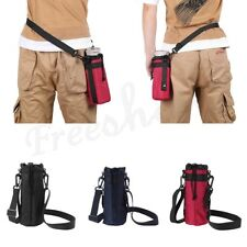 600ml Water Bottle Carrier Insulated Bag Cover Pouch Case Holder Shoulder Strap