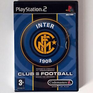 Club Football Inter Milan (Sony PS2, 2003 Codemasters) PAL Complete with Manual
