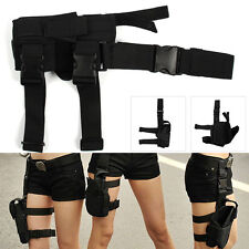 Tactical Wrap-around Thigh Leg Pistol Gun Holster Pouch Waterproof Adjustable UK