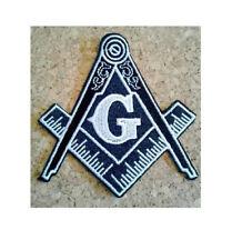 Masonic Logo - Masons - Freemason - Lodge - Embroidered Iron On Symbol Patch BW