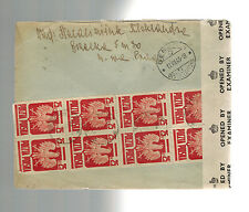 1944 Warsaw Poland Censored by Britain Cover to Red Cross Switzerland 2