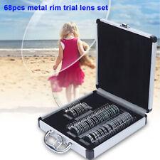 Trial Lens Set 68 pcs Metal Rim Optometry Optical instrument /w Aluminium case