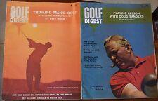 LOT OF (9) GOLF DIGEST MAGAZINES 1965 (6) 1966 (3) CASPER DEVLIN