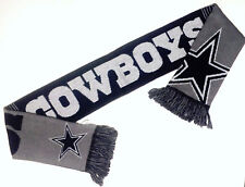 Dallas Cowboys Scarf Sixty Four Inch Length Reversible with Split Logo
