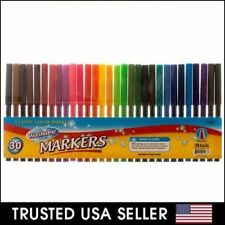 30 pcs - Classic Color Markers Brilliant Assorted Colors Fine Tip Line Washable
