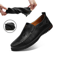 Mens Driving Sneakers Big Size Slip On Loafers Shoes Casual Flat Boat Shoes
