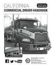 COMMERCIAL DRIVER'S MANUAL FOR CDL TRAINING (CALIFORNIA) ON CD IN PDF PROGRAM.