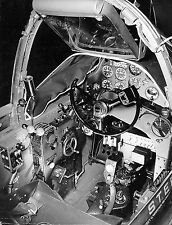 8 1/2X11 Vintage Aircraft Photo Lockheed P-38G cockpit looking from right wing