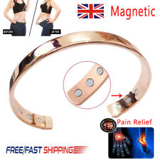 COPPER MAGNETIC BRACELET pain relief carpal tunnel arthritis Ladies Womens-UK