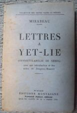MIRABEAU LETTRES À YET-LIE HENRIETTE AMÉLIE DE NEHRA AUBIER MONTAIGNE 1929