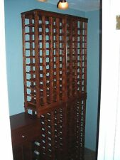 Perfect 44 bottle wood wine rack with a solid wood top