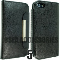 For Apple IPhone 5 5G 5S Leather Case Cover Flip Pouch Book Phone Wallet Slim