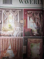4965 UNCUT Butterick SEWING Pattern CRAFT Home Decor Waverly Window Drapes OOP