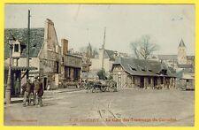 cpa 14 CAEN (Calvados) La GARE des TRAMWAYS Entreprise de Déménagement J. DETHAN