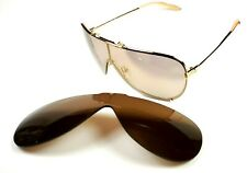 New Mosley Tribes Avedon sunglasses Gold / Gold Mirror & Brown ( 2 set lenses )