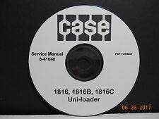 CASE 1816 Uni Loader / Skid Steer Service Manual 8-41040 / On CD