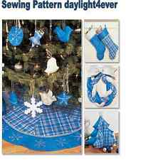 Christmas Decorating Tree Skirt Stocking Ornament Sewing Pattern 3777 New #k