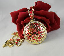 Lauren G Adams Rhinestone Red Gold tone Heart QVC  Necklace  CAT RESCUE