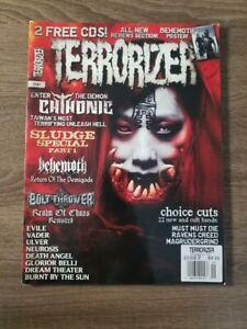 Terrorizer Magazine : Issue #187 Summer 2009 with Behemoth Poster
