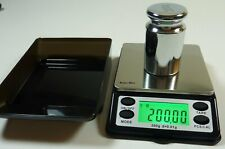 Small Pocket Digital Scale 200g x 0.01g with Calibration Weight & Tray oz ct gn