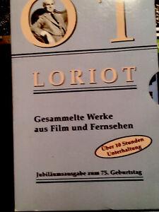 VHS Loriot Gesamtausgabe Auf 3 VHS