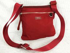 Tumi Voyageur Red Nylon Crossbody Shoulder Bag Travel Zip