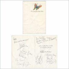 Paul & Linda McCartney 1990s Signed Birthday Card To Geoff Baker (UK)