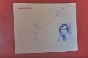 JOHN ALEXANDER AUSTRALIAN  TENNIS LEGEND   HAND SIGNED VINTAGE AUTOGRAP PAGE